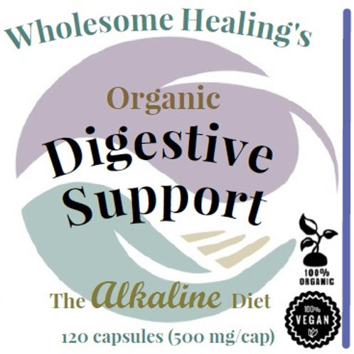 Digestive Support | Organic & Wild-crafted (120 Capsules) | Vegan | Alkaline
