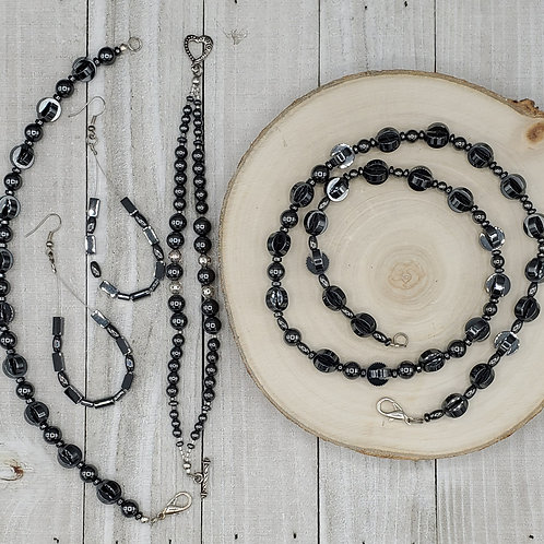 Hematite | Natural | Jewelry Set
