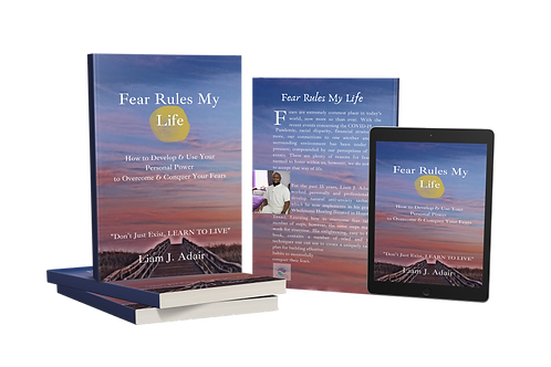 Fear Rules My Life | Softcover Book |  with Journal