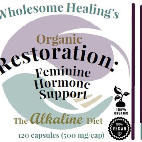 Restoration: Feminine Hormone Support | Organic | 120 Capsules