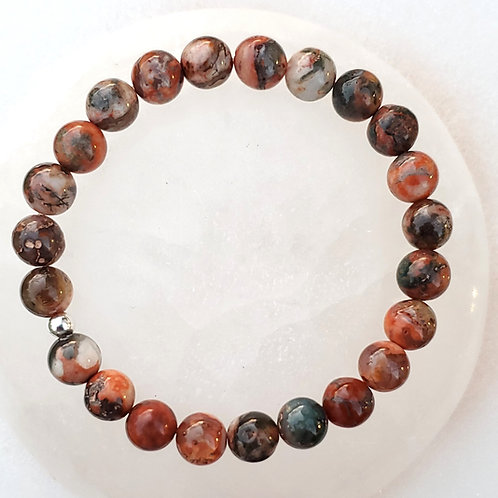 Onyx   Multi-colored   Polished   Bracelet