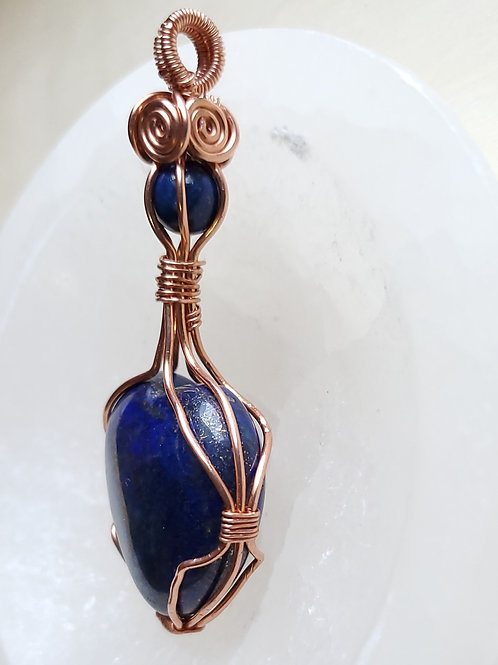 Lapis Lazuli | Wire Wrapped | Copper | Necklace