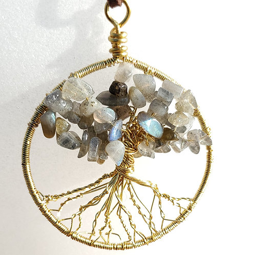 Labradorite   Tree of Life   Pendant   Wire Wrapped   Necklace