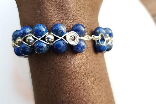 Lapis Lazuli | Wire Wrapped | Copper | Bracelet