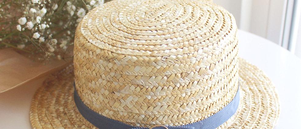 Chapeau de paille Camille bleu
