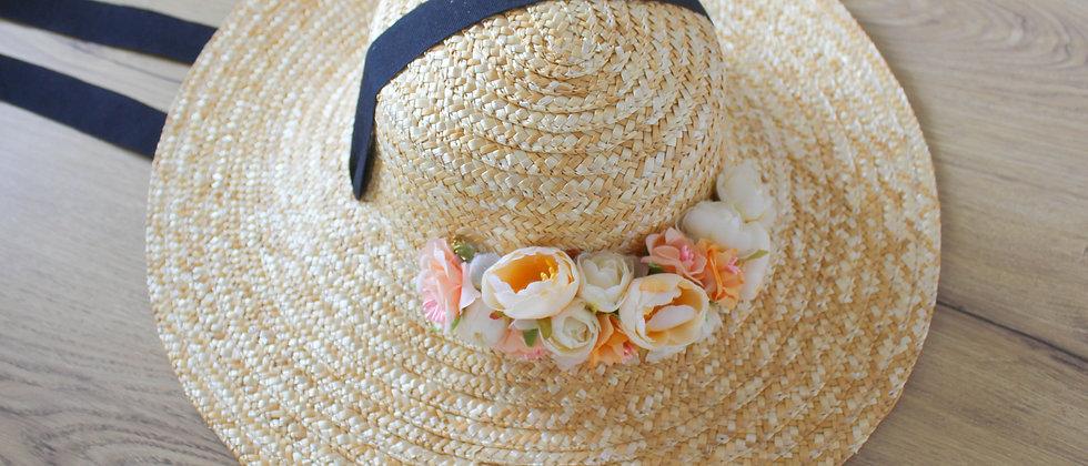 Chapeau de paille Marina noir