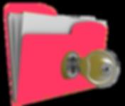 Folder with keylock