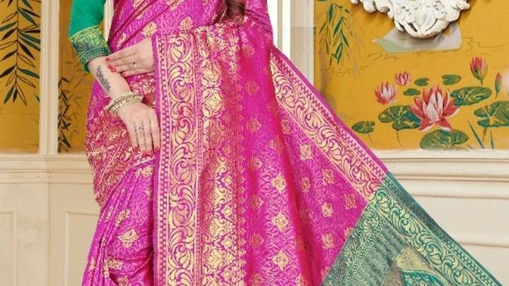 Beautiful Cotton Silk Saree with Blouse piece