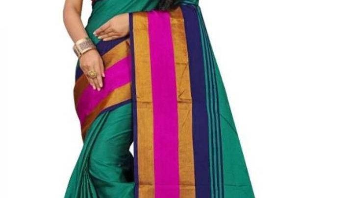 Multicoloured Cotton Silk Sarees