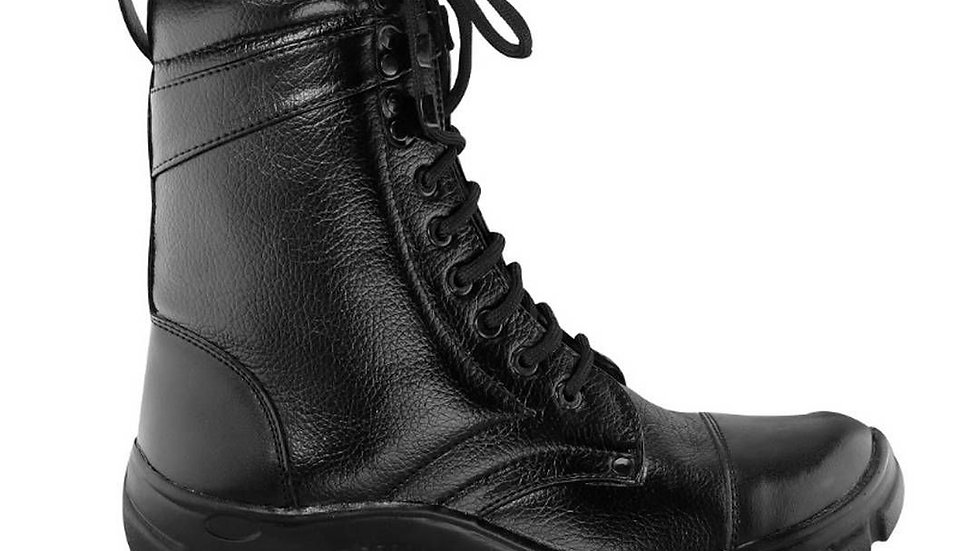 Comfortable Black Synthetic Men's Long Boots