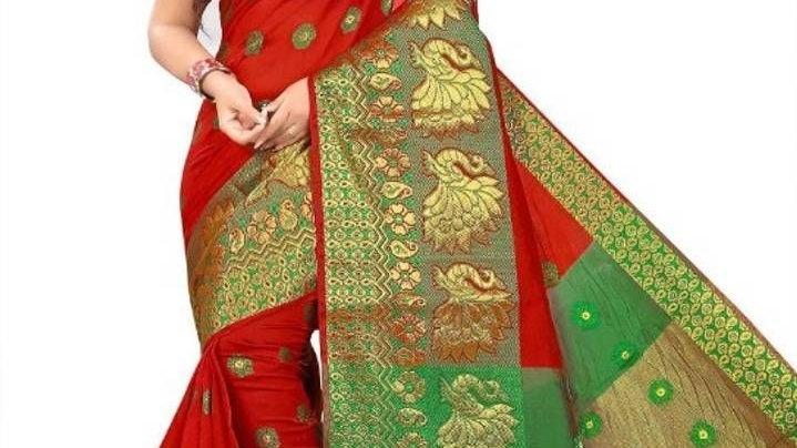 Banarasi Jacquard Cotton Silk Sarees