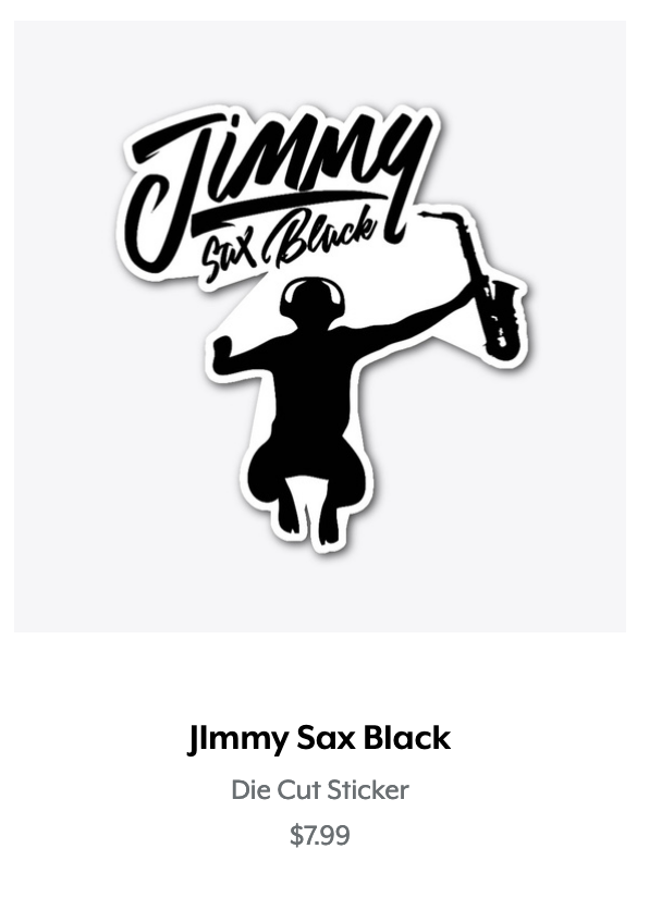 Jimmy Sax Black Die Cut Sticker.png