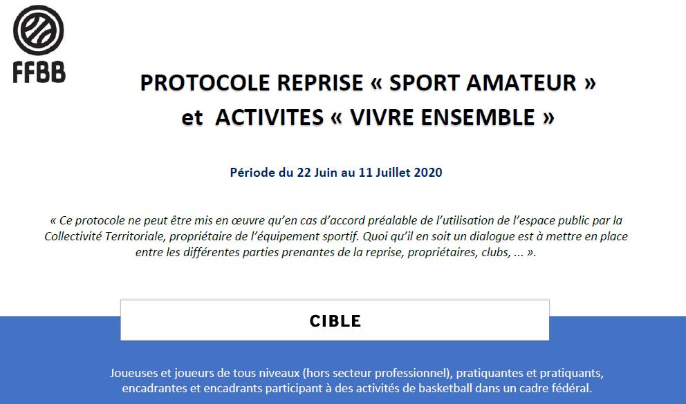 01-07-2020 Protocole reprise