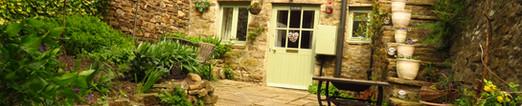 HIgh walled courtyard garden