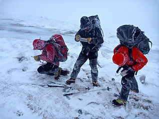 Naviagating in winter conditions on the Cairngorm Plateau
