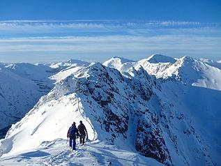 The Aonach Eagach in winter