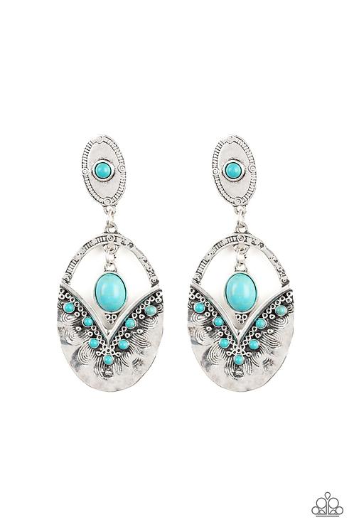 Terra Tribute - Blue Earrings