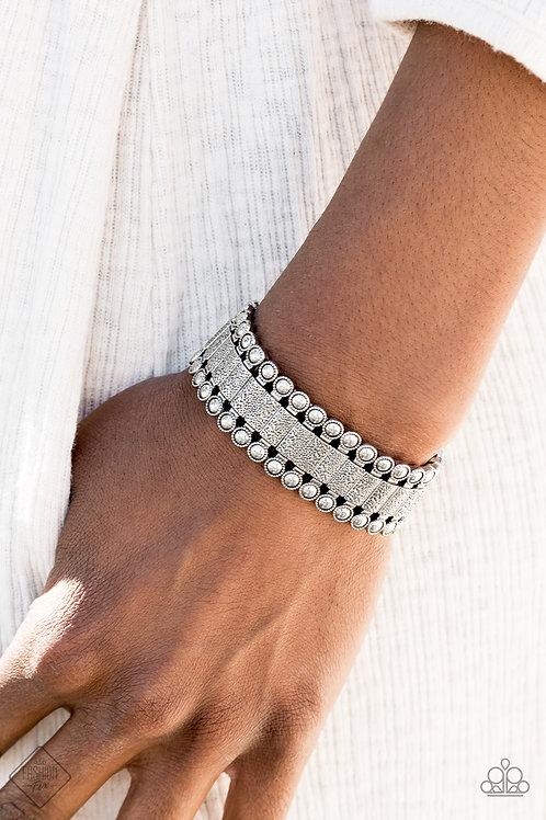 Rustic Rhythm - Silver bracelet