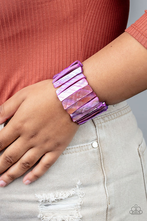 Beach Blast - Purple bracelet