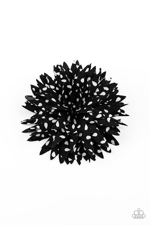Polka Panache - Black Hair Clip