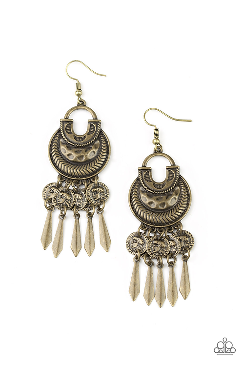 Give Me Liberty - Brass earring