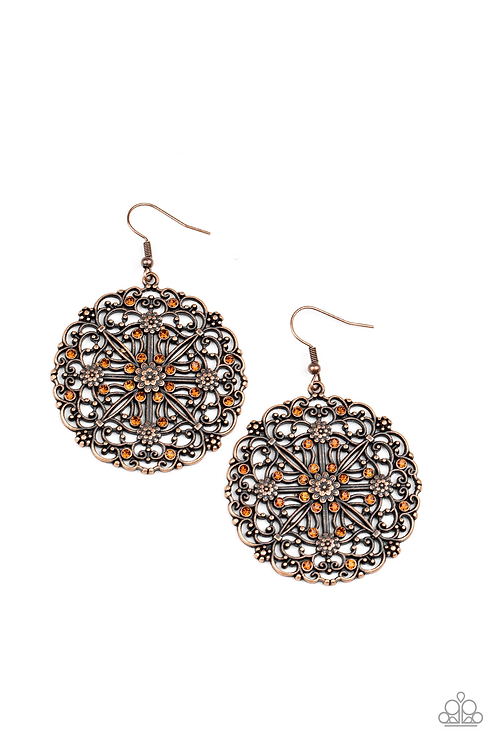 Oh Mandala - Copper Earring