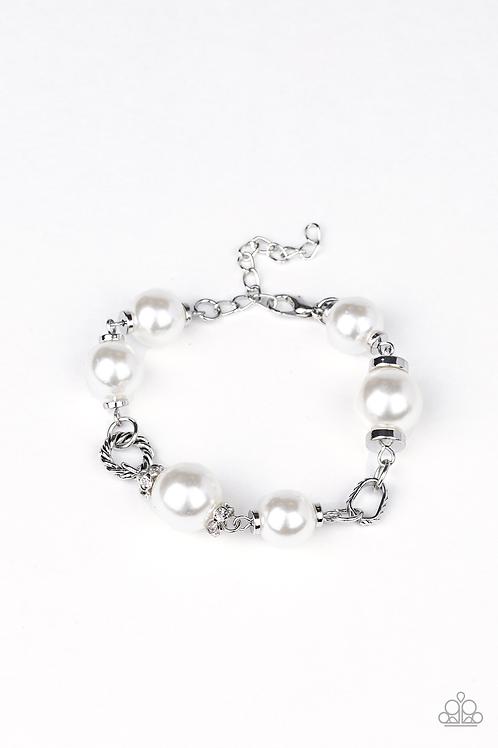 Boardroom Baller - White bracelet