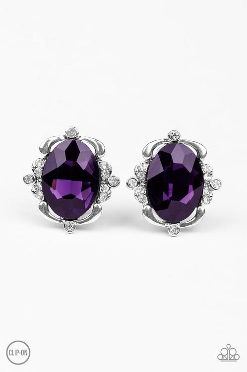 Regally Radiant - purple earrings