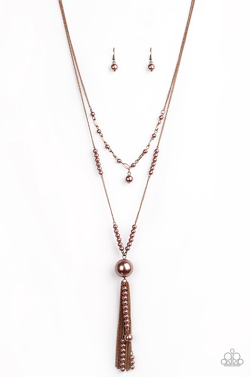 Abstract Elegance - Copper necklace