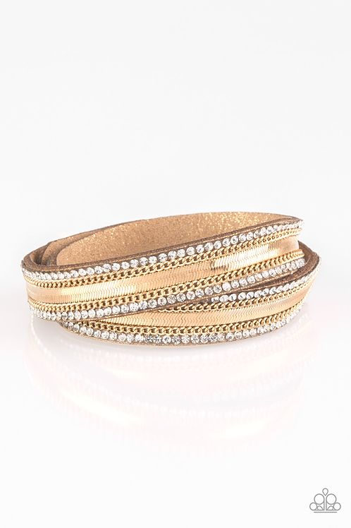 Rocker Rivalry - Gold bracelet