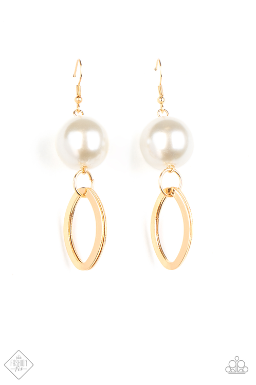Big Spender Shimmer - Gold earring