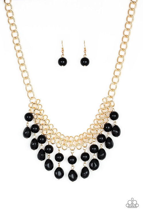 5th Avenue Fleek- Black necklace
