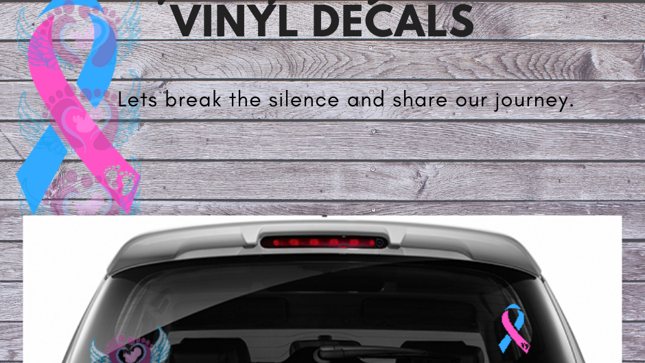 Pregnancy and Infant Loss Vinyl Decal