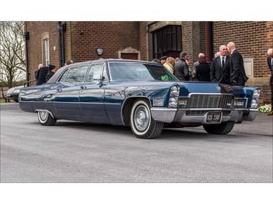1968 Blue Cadillac Carlton family car seats 4 people