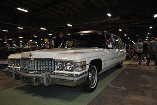 1974 White Cadillac Fleetwood Hearse