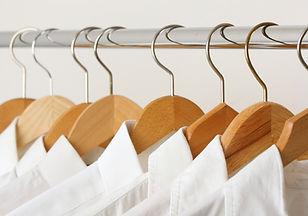 Planchadas camisas blancas