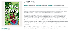 Booktrust action stan Elaine Wickson Chris Judge Book of the Month