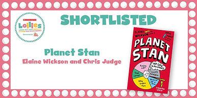 Lollies 2020 Book Awards Planet Stan Elaine Wickson Chris Judge Action Stan Super Stan
