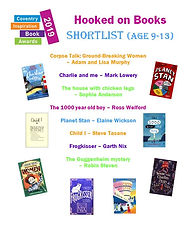Hooked on Books Coventry Inspiration Book Awards Planet Stan Elaine Wickson Chris Judge