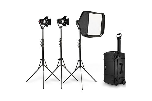 Fiilex P360 (3-lights) Kit with Stands and Softbox