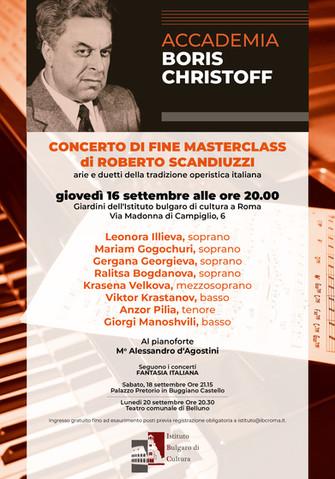 Concerto di fine masterclass