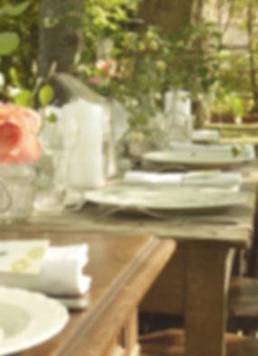 table mariage champêtre - location vaisselle vintage