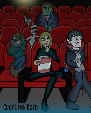 Cartoon Cody Lynn Boyd - Monsters At The Movies