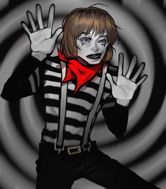"Cody Lynn Boyd as a mime. Based on the ""I'm Gonna Give You Anything"" music video."
