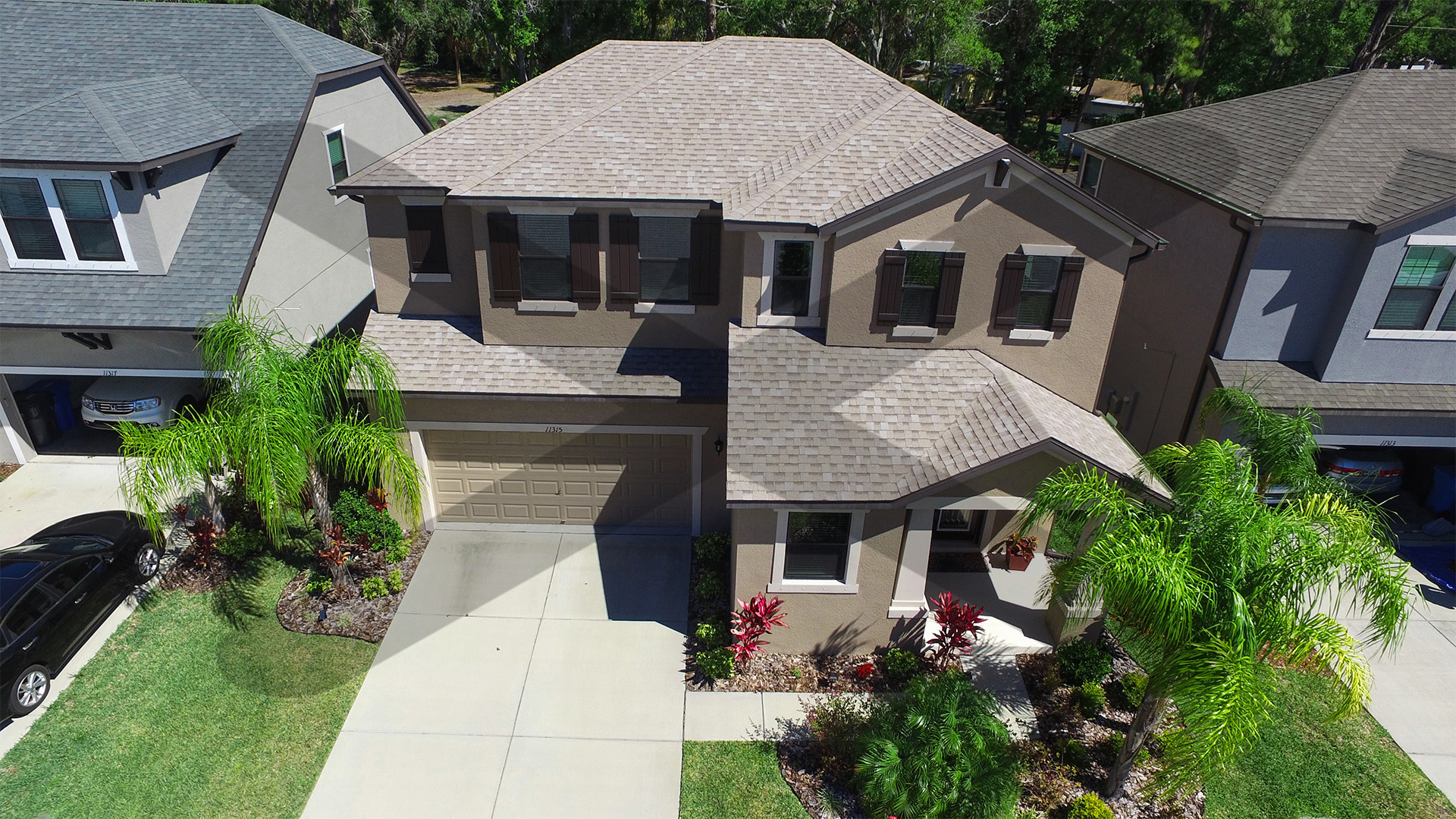 Front Aerial of Home