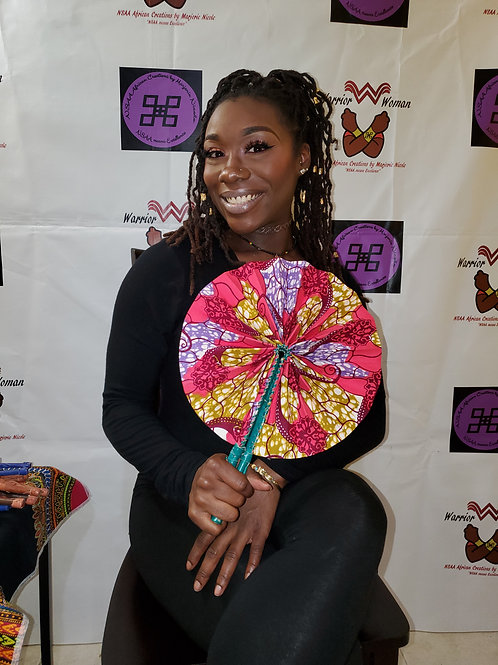 Handcrafted fans from Ghana