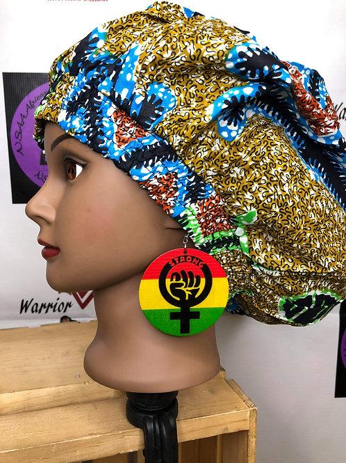 Wooden Strong Black Woman Earrings