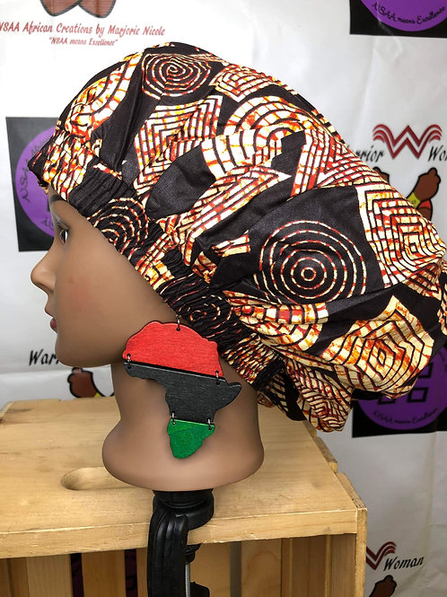 Wooden RBG Africa Earrings
