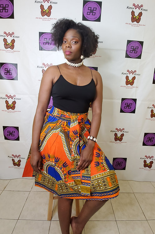 African Ankara mini Skirt