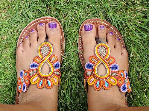 All Size 43 handmade Maasai beaded sandals